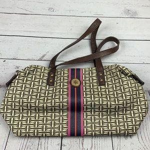 Tommy Hilfiger tan & brown shoulder bag